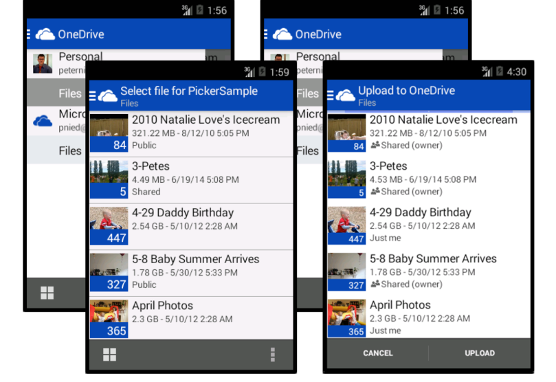 OneDrive Picker in Action